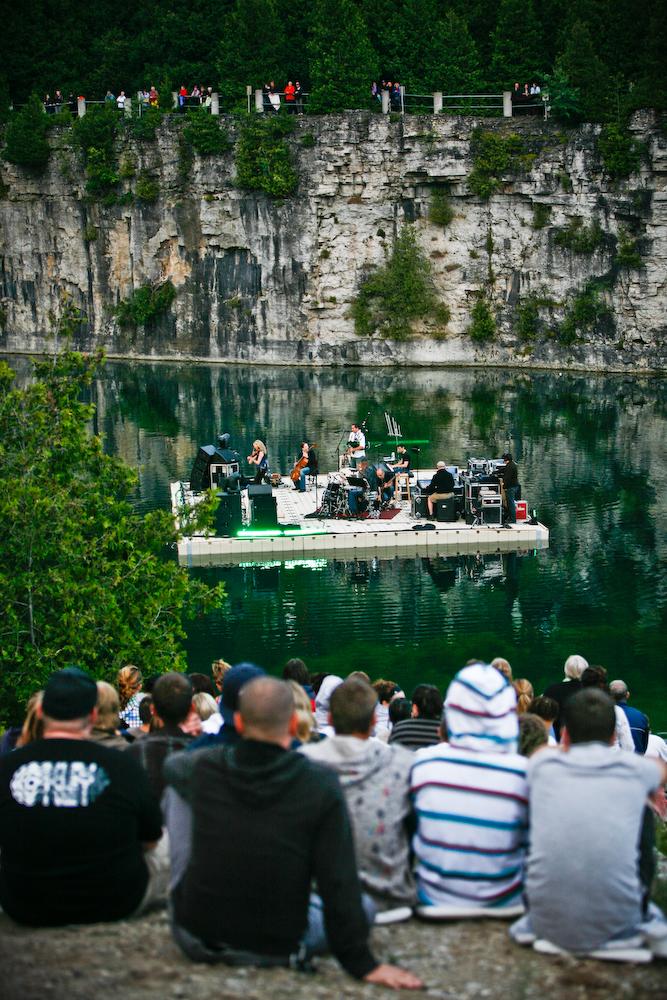 EZ Dock Floating Concert Stage